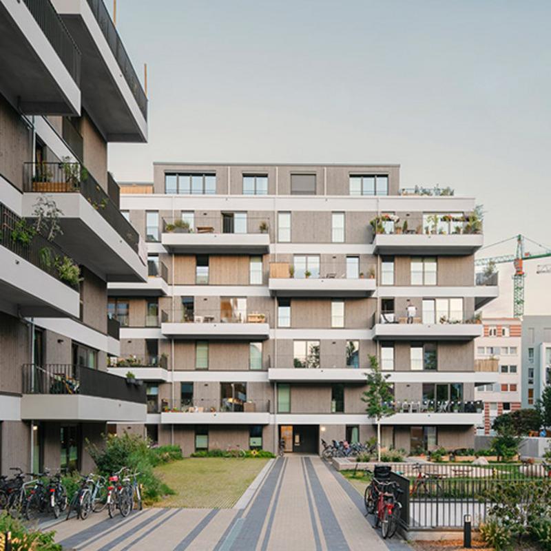 Neubau von zwei Wohngebäuden am Schmollerplatz © Simon Menges