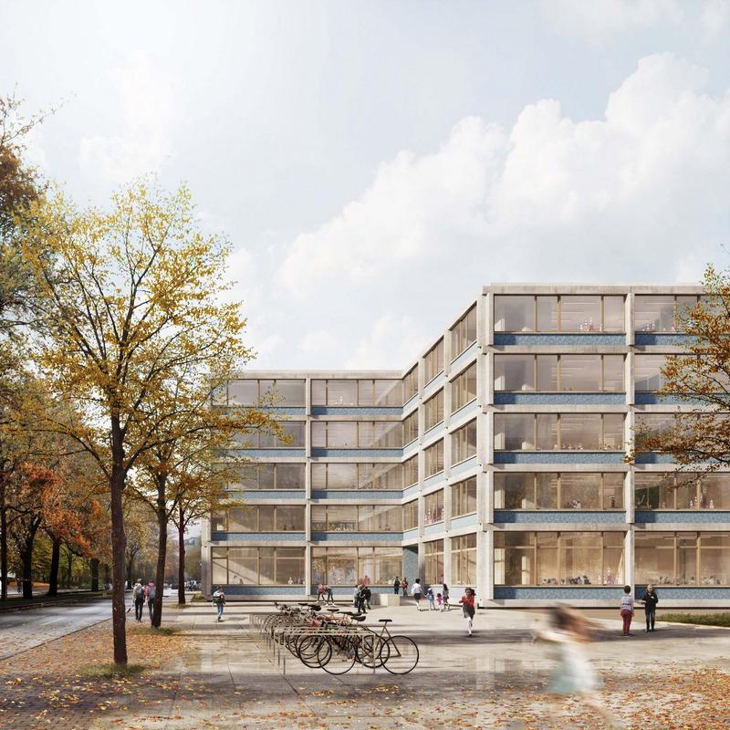 Vierzügige modulare Grundschule und Sporthalle © Bruno Fioretti Marquez Architekten, Berlin