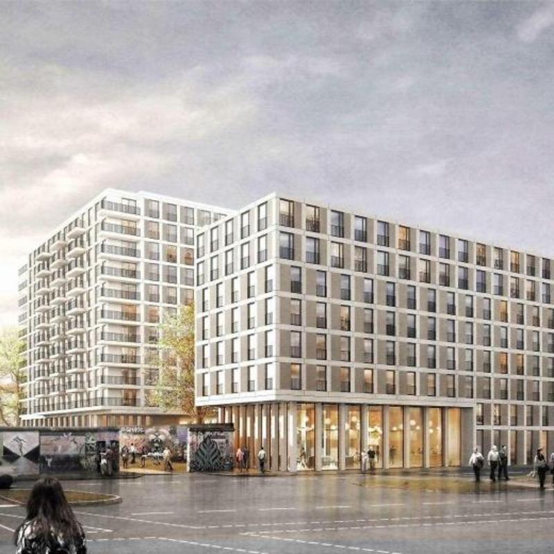 Hotel und Wohnbebauung am Stralauer Platz © Winking · Froh Architekten