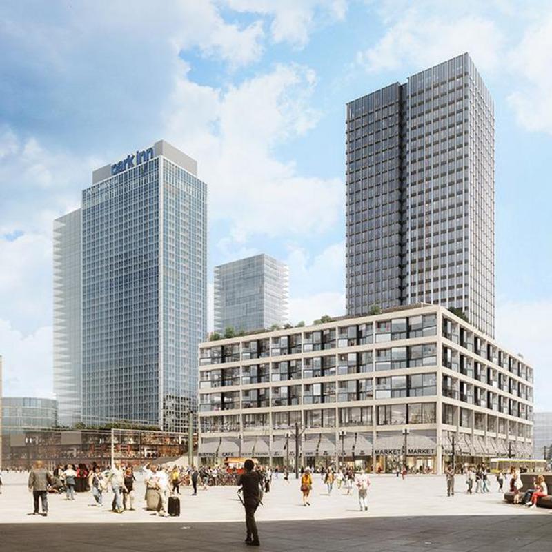 Hochhaus Alexanderplatz Baufeld D3 © Sauerbruch Hutton Gesellschaft von Architekten mbH, Berlin