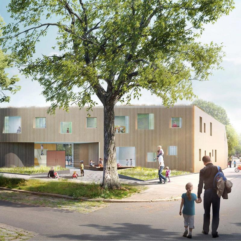 Neubau Kindertagesstätte Gudrunstraße © Ludloff Ludloff Architekten GmbH