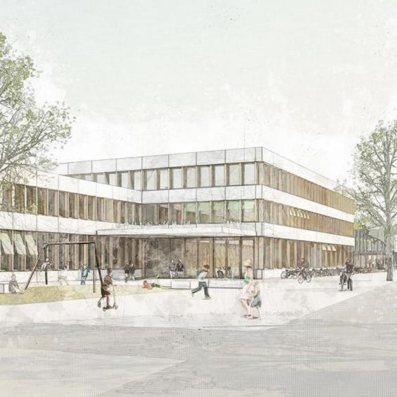Dreizügige modulare Grundschule und Sporthalle © h4a Gessert + Randecker Architekten GmbH, Stuttgart
