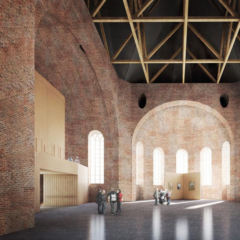 Innenraumgestaltung der Parochialkirche © Kuehn Malvezzi