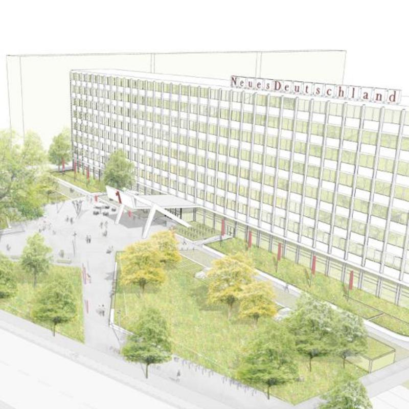 Neugestaltung Franz-Mehring-Platz © gm013 I giencke mattelig, Berlin