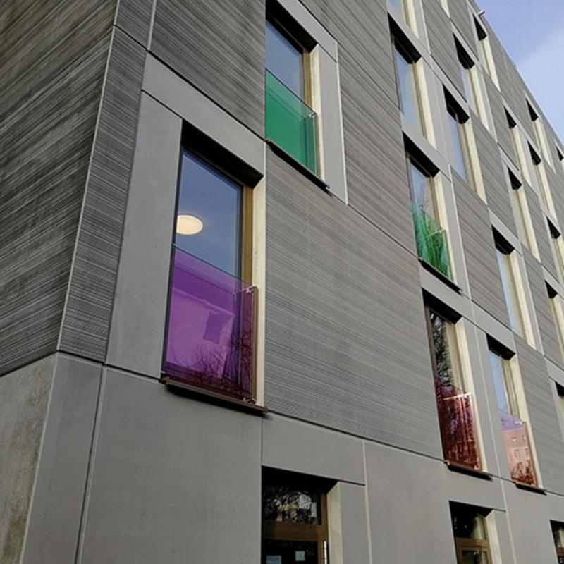 Modulare Unterkünfte für Flüchtlinge © aim Architektur Management Busse & Partner