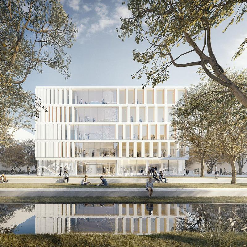 """Campus Bio- und Medizintechnologie - Forschungsgebäude """"Der simulierte Mensch"""" © HDR GmbH, Düsseldorf"""