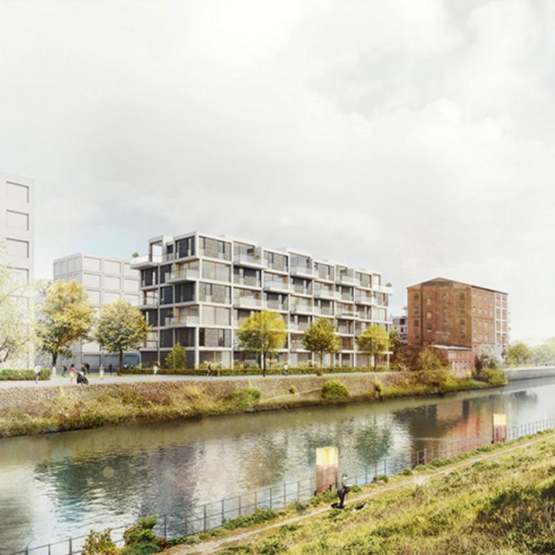 Riverside Europacity – Haus am Wasser © zanderroth architekten